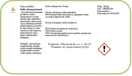 ZnB1 ciemny proszek do cynkowania beczka 250 kg  (2)