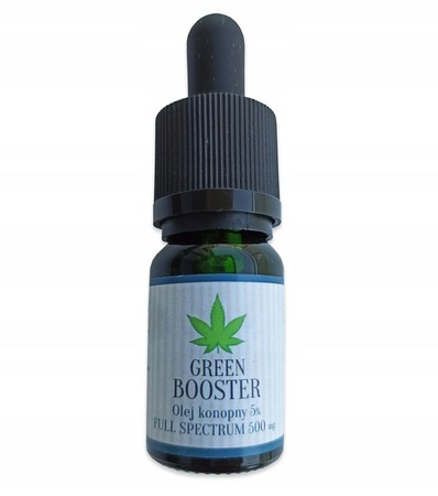 OLEJEK KONOPNY CBD 5% 500 mg GREEN BOOSTER 20 ml (1)