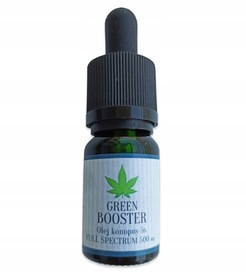 OLEJEK KONOPNY CBD 5% 500 mg GREEN BOOSTER 30 ml